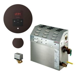 Mr. Steam 5kW Steam Bath Generator with iTempo AutoFlush Round Package in Oil Rubbed Bronze by Mr. Steam