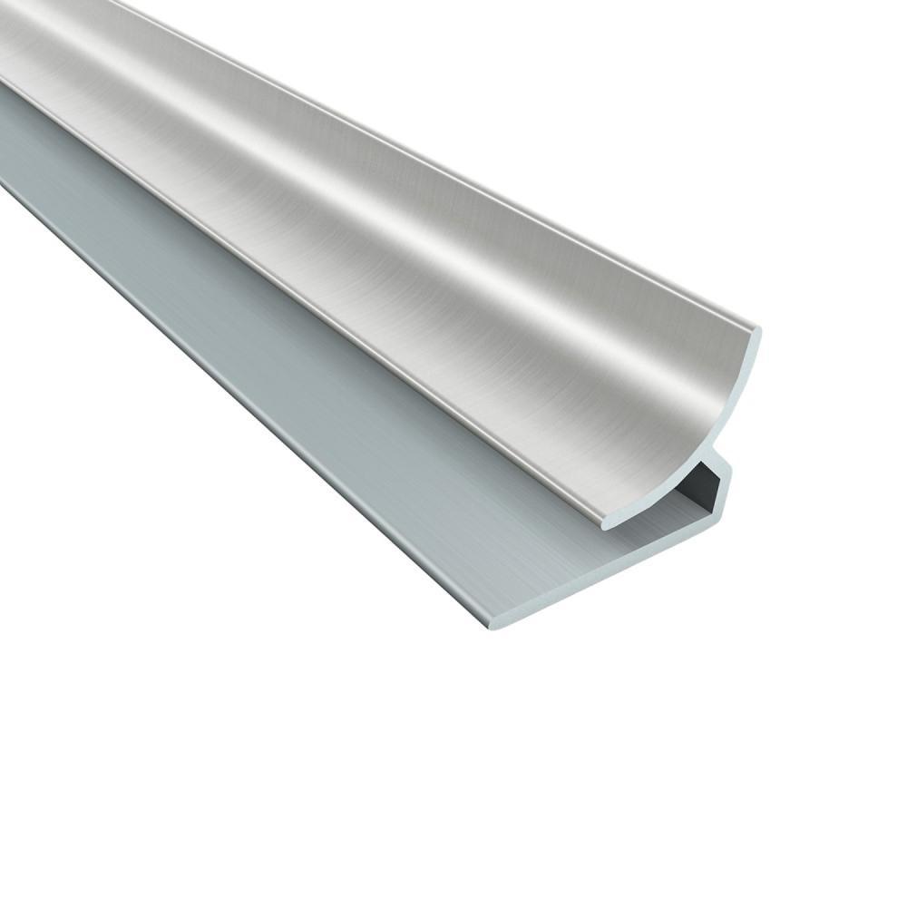 4 ft. Brushed Nickel Inside Corner Trim