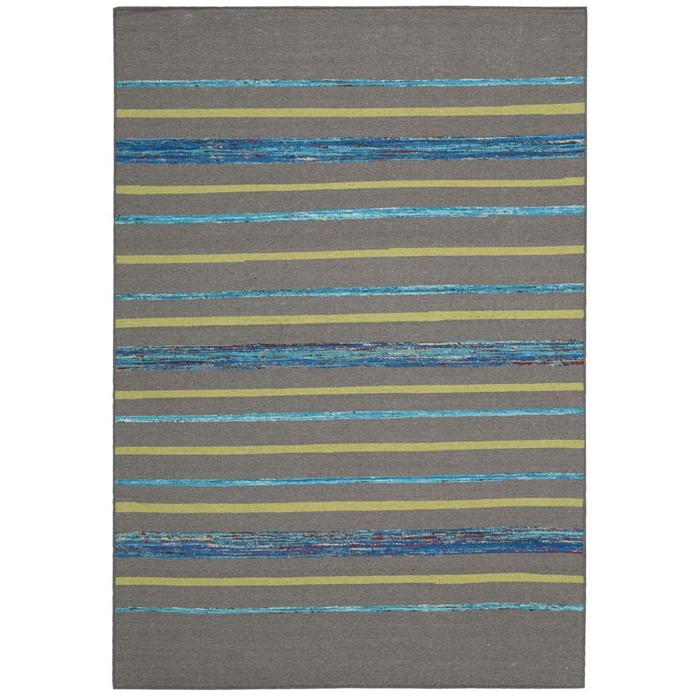 Florida Gray Turquoise Area Rug: Nourison Overstock Spectrum Grey/Turquoise 5 Ft. X 7 Ft