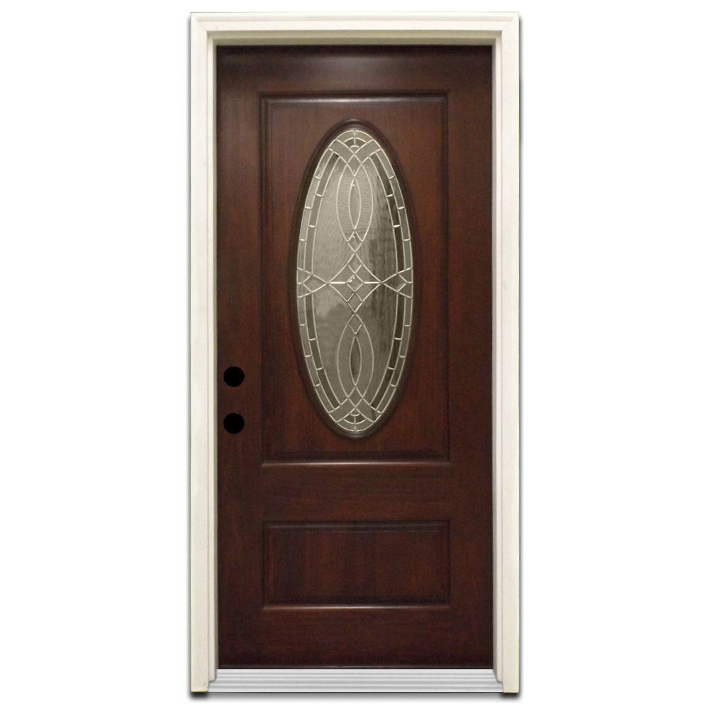 Steves & Sons Appleton Stained Hardwood Prehung Front Door