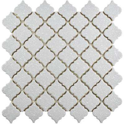Hudson Tangier Crystalline Grey 12-3/8 in. x 12-1/2 in. x 5 mm Porcelain Mosaic Tile