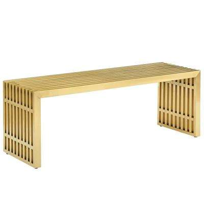 Gridiron Gold Medium Stainless Steel Bench