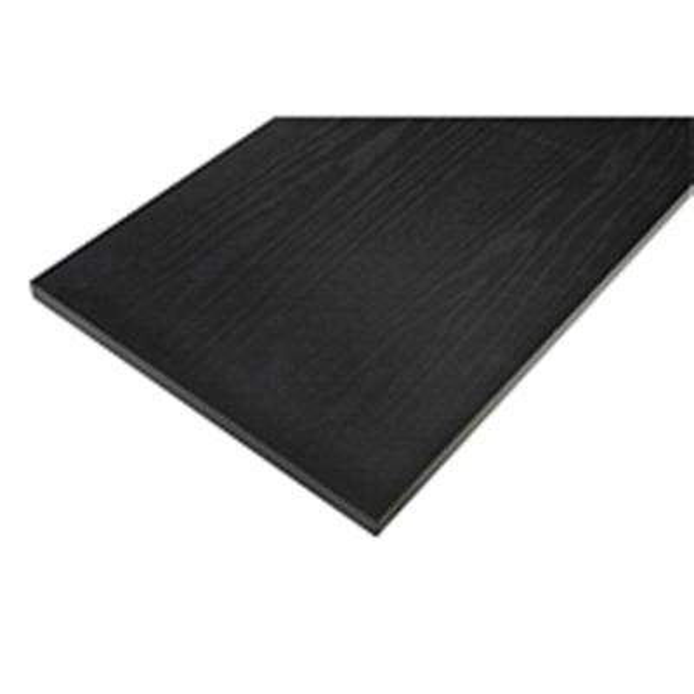 Black Laminated Wood Shelf 8 in. D x 36 in. L
