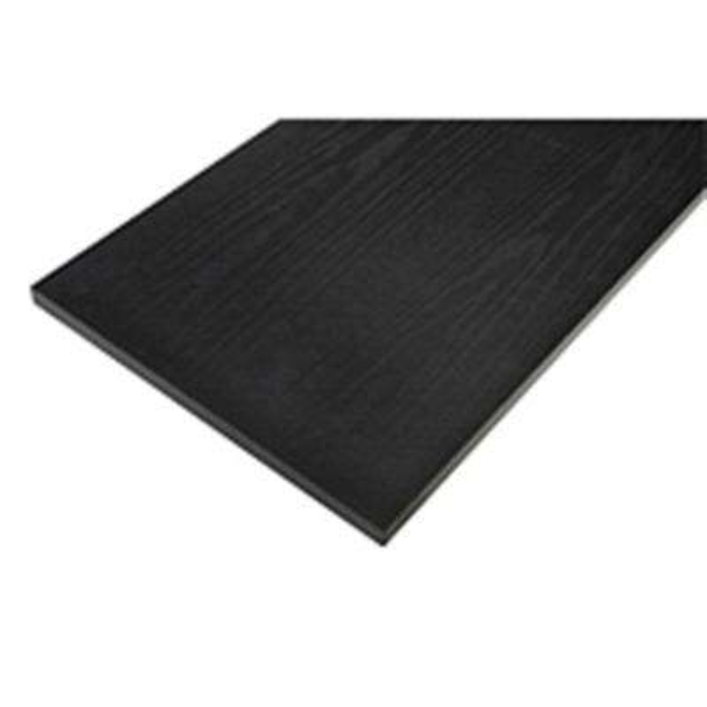 12 in. x 48 in. Black Laminated Wood Shelf