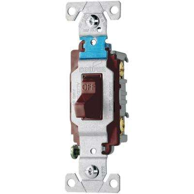20 Amp 120/277-Volt Side Wire Compact Toggle Switch, Brown
