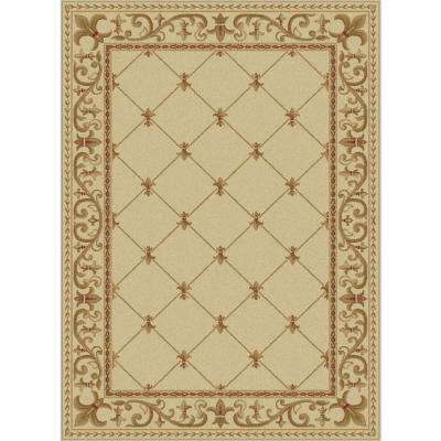 Sensation Ivory 8 ft. 9 in. x 12 ft. 3 in. Traditional Area Rug