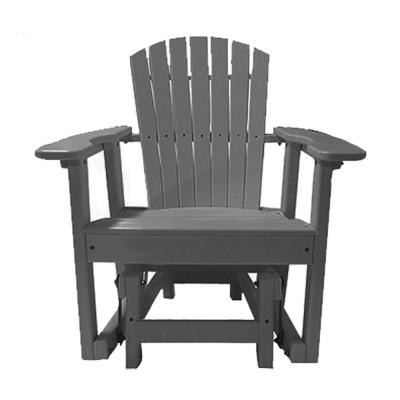 31.5 in. 1-Person Gray Recycled Poly-Lumber Outdoor Glider