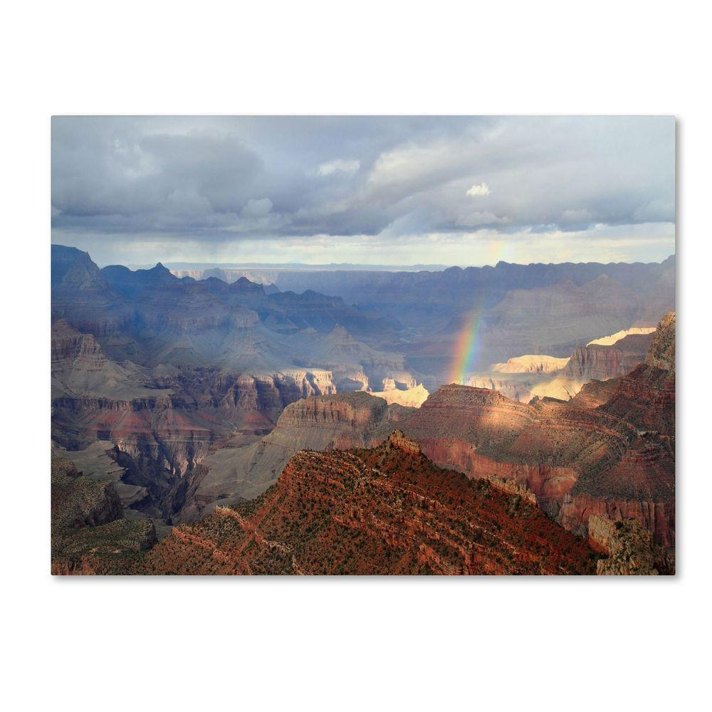 Trademark Fine Art 14 in. x 24 in. Grand Canyon Rainbow Canvas Art