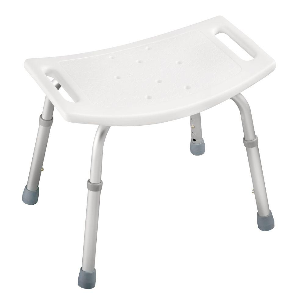 Adjustable Bathtub And Shower Safety Seat In White DF596   The Home Depot