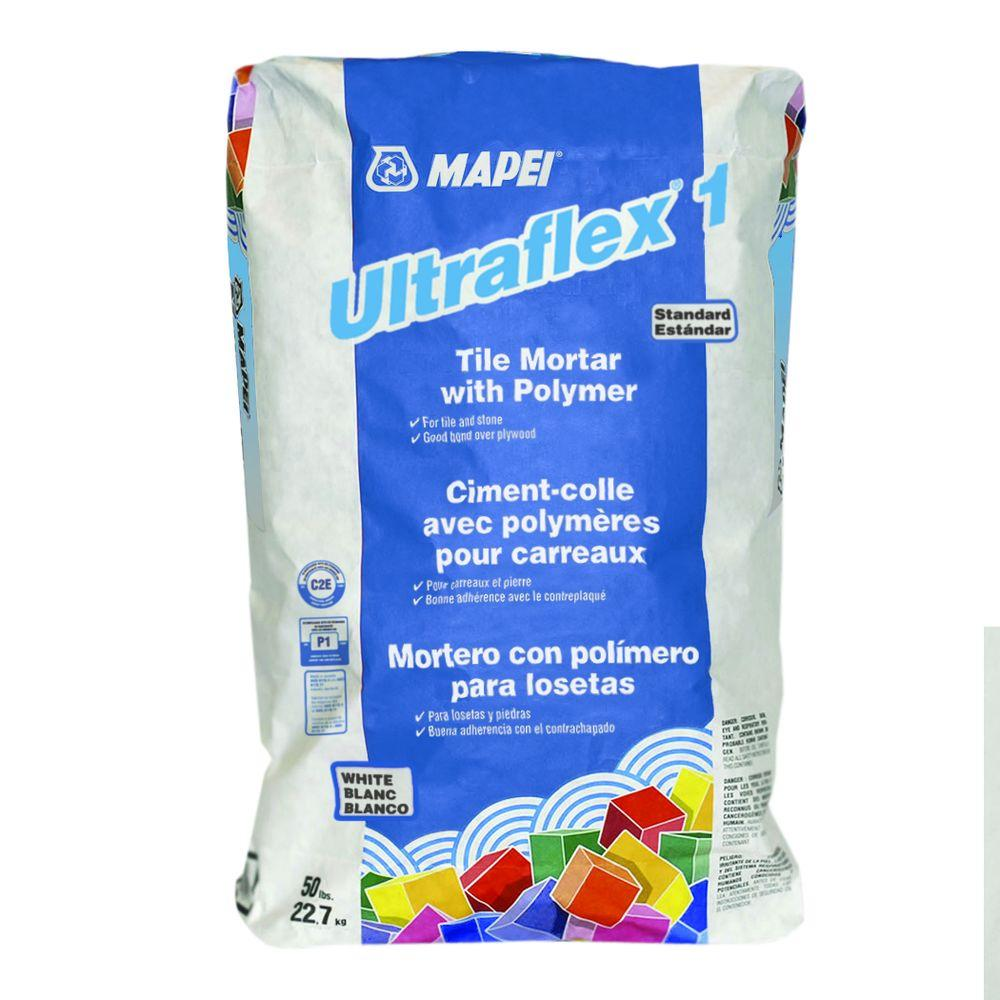 Mapei ultraflex 1 50 lb white mortar with polymer 0060049 the mapei ultraflex 1 50 lb white mortar with polymer 0060049 the home depot dailygadgetfo Choice Image
