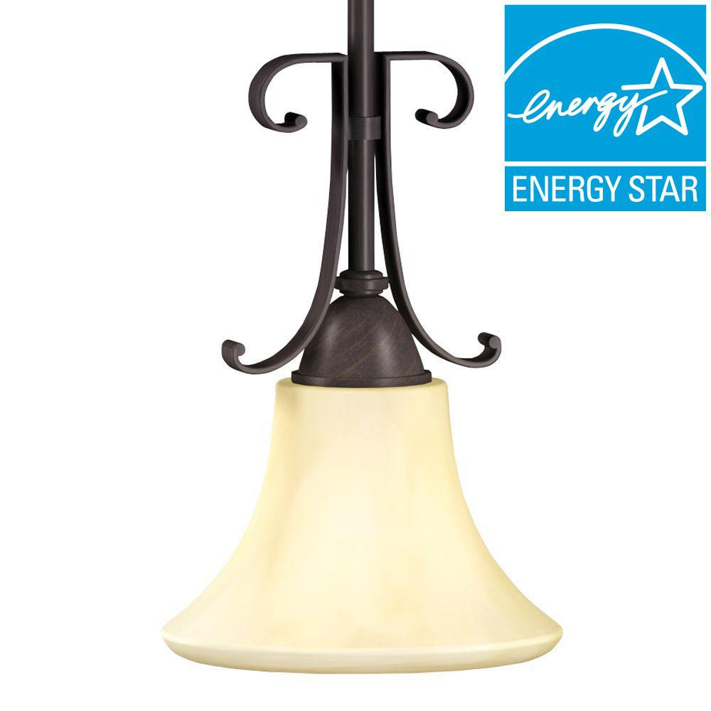 Swain 1-Light Oil-Rubbed Bronze Mini Pendant