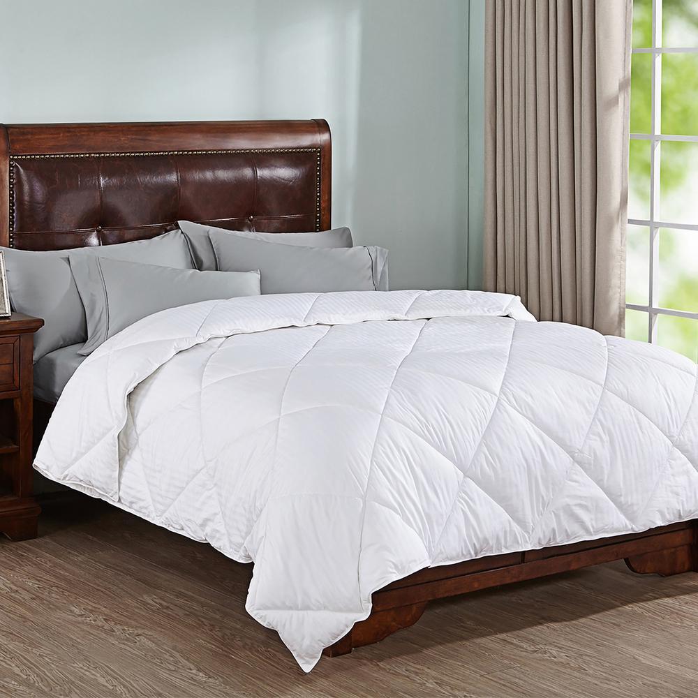 All Season Dobby Full/Queen Stripe Down Alternative Comforter