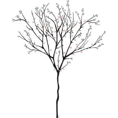 39 in. x 34.5 in. Willow Wall Decal