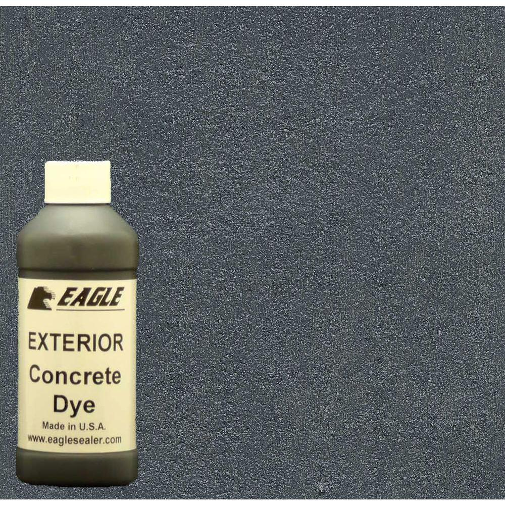 Eagle 1-gal. Smoke Exterior Concrete Dye Stain Makes with Acetone from 8-oz. Concentrate