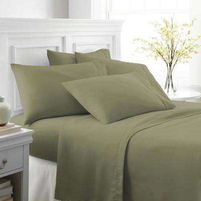 Performance Sage Queen 6-Piece Bed Sheet Set