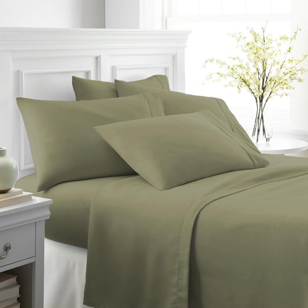 Performance Sage Twin XL 6-Piece Bed Sheet Set