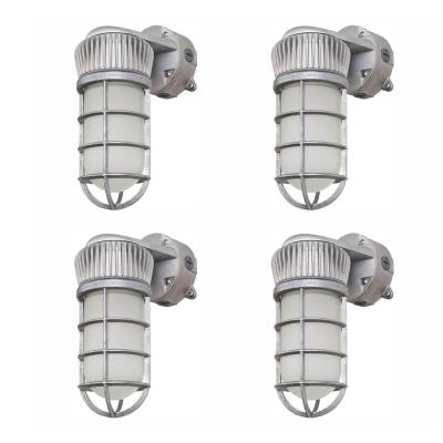 150-Watt Equivalent Integrated LED Vapor-Tight Sand Blast Gray Area and Flood Light, Outdoor Security Lighting