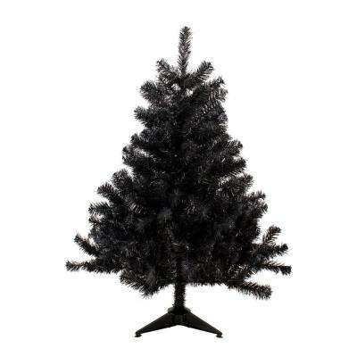 4 ft. Unlit Black Colorado Spruce Artificial Christmas Tree