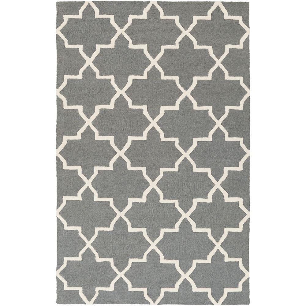 Pollack Keely Charcoal 6 ft. x 9 ft. Indoor Area Rug