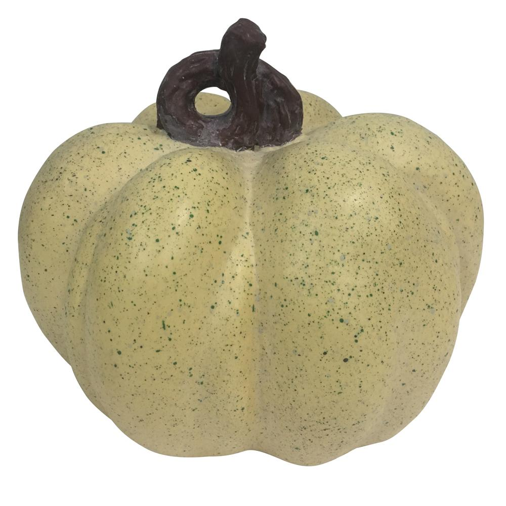 Home Accents Holiday 8.5 in. Harvest Pumpkin in Cream