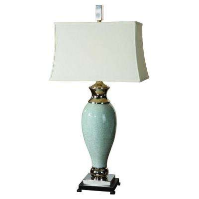 39 in. Light Blue Table Lamp
