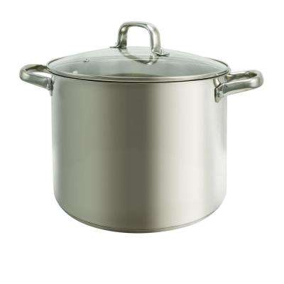 Adenmore 12 Qt. Stock Pot with Tempered Glass Lid