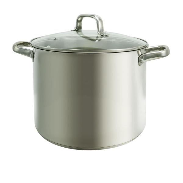 Oster Adenmore 12 Qt. Stock Pot with Tempered Glass Lid