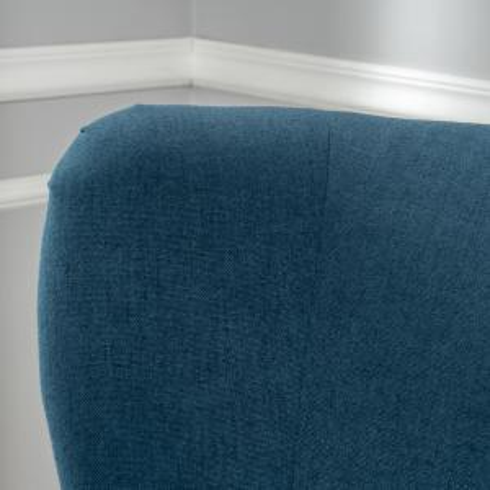 Groovy Noble House Lorenzo Studded Dark Blue Fabric High Back Club Machost Co Dining Chair Design Ideas Machostcouk