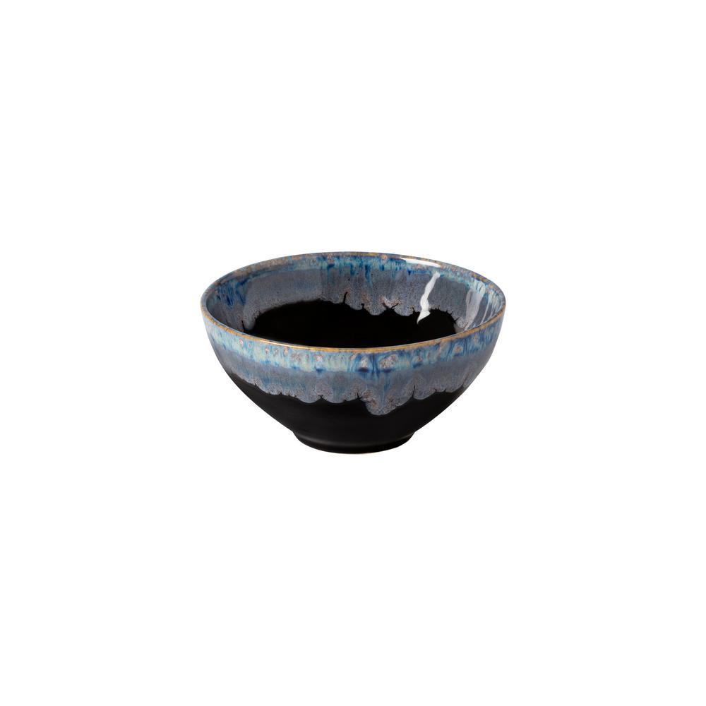 Taormina 22 fl. oz. Black Stoneware Cereal Bowl (Set of 6)