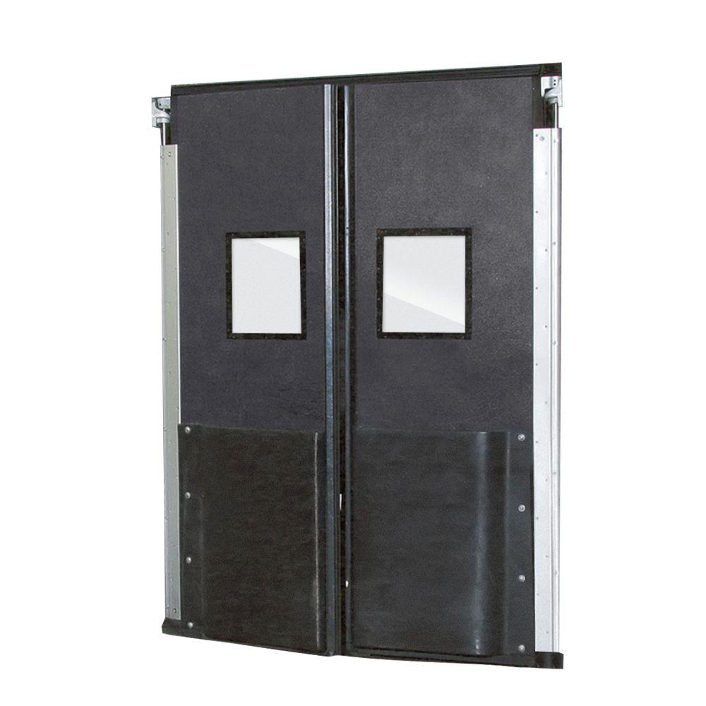 Aleco ImpacDor FD-175 1-3/4 in. x 72 in. x 84 in. Charcoal Gray Impact Door