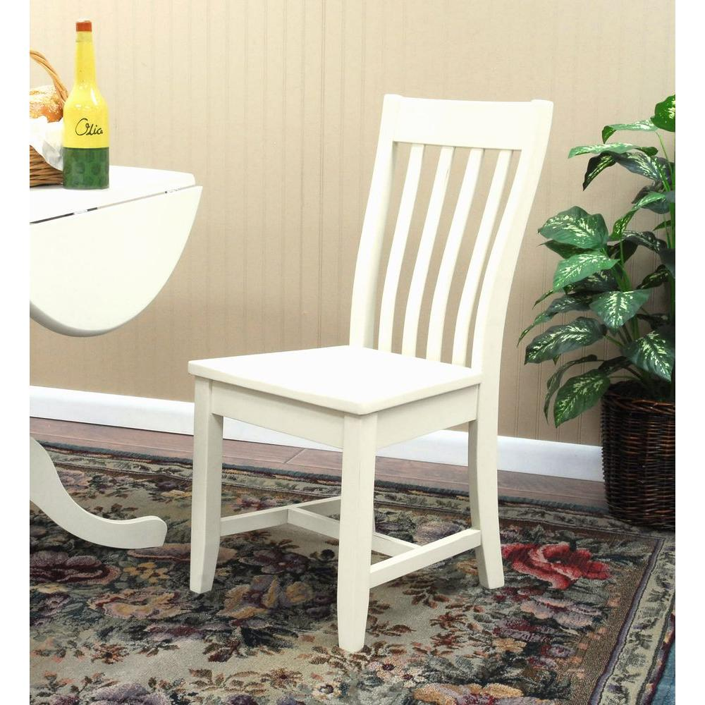 Carolina Cottage Prairie Antique Ivory Wood Dining Chair