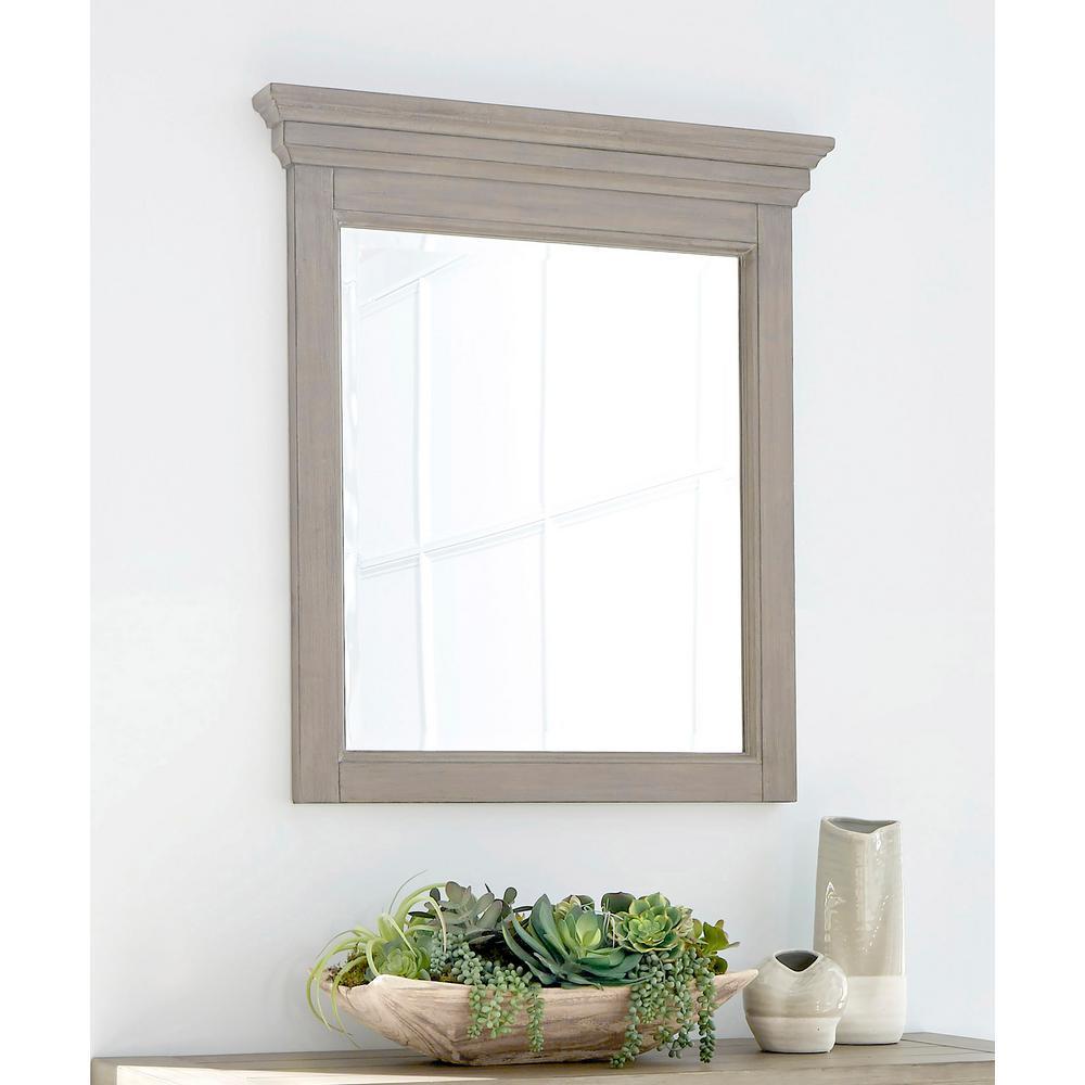Mountain Lodge Gray Wall Mirror