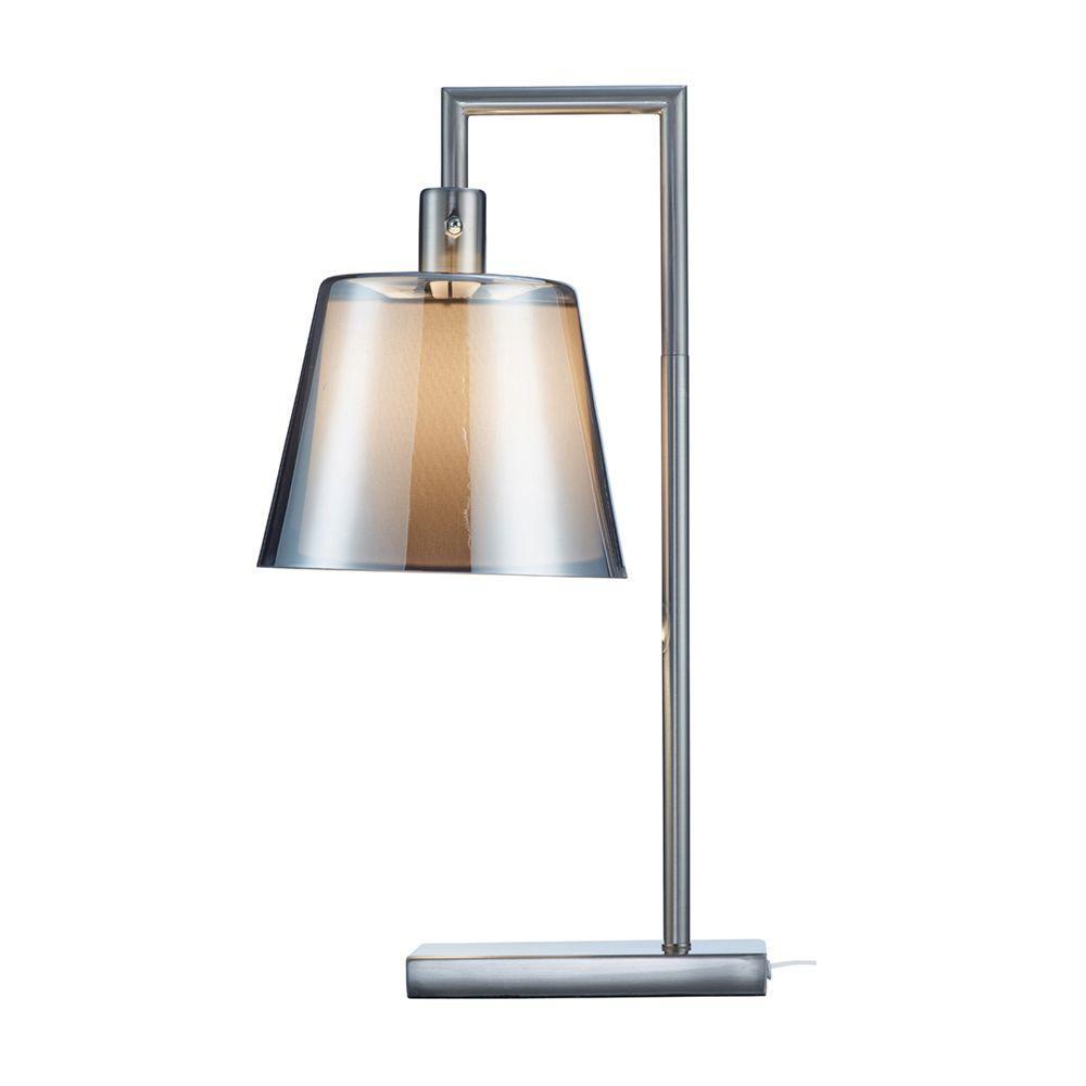 Prescott 23 in. Satin Steel Table Lamp