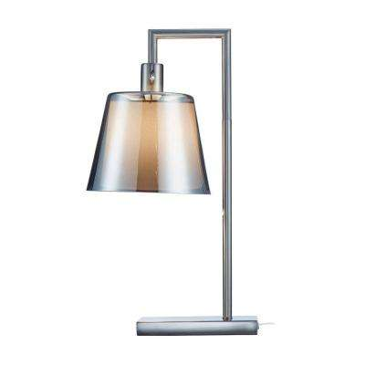 Prescott 23 in. Satin Steel Table Lamp