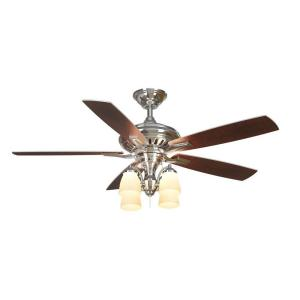 Hampton bay bristol lane 52 in indoor polished nickel ceiling fan hampton bay bristol lane 52 in indoor polished nickel ceiling fan with light kit 14950 the home depot mozeypictures Gallery