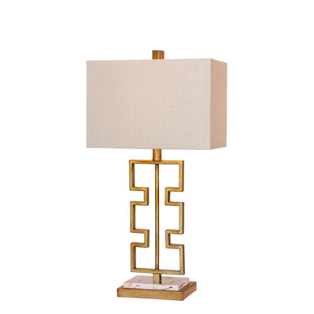 Modern Gold Table Lamp, Comet Retro Metal Table Lamp