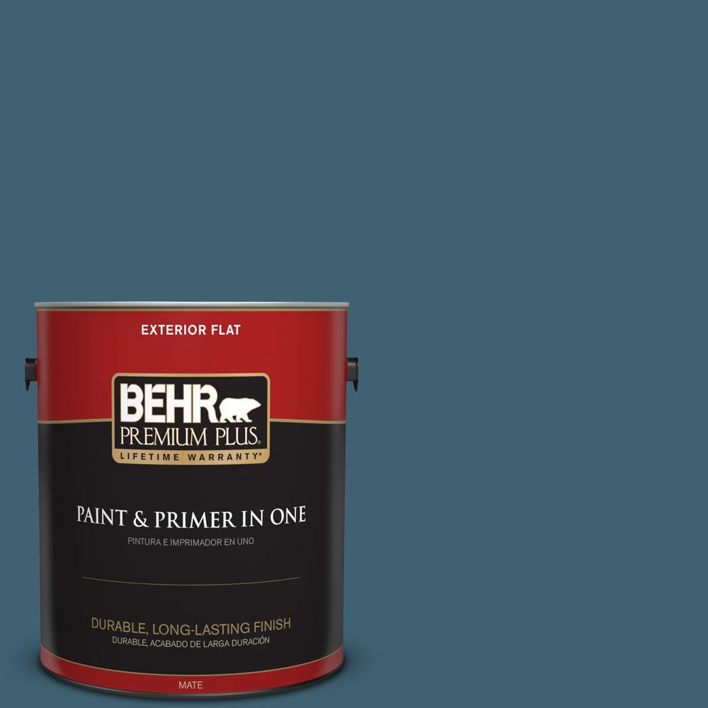 1 gal. #PPU13-18 Bermudan Blue Flat Exterior Paint