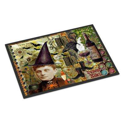 18 in. x 27 in. Indoor/Outdoor Broom Rides and Spells Halloween Door Mat