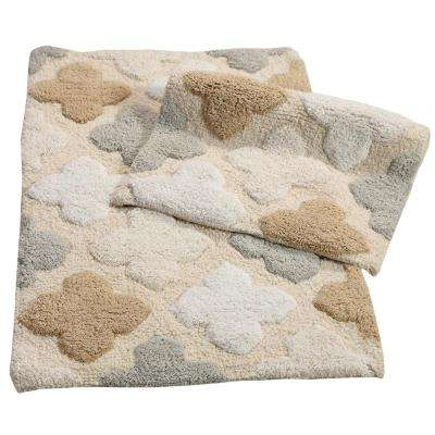 Alloy Moroccan Tiles Spa 21 in. x 34 in. 2-Piece Bath Rug Set