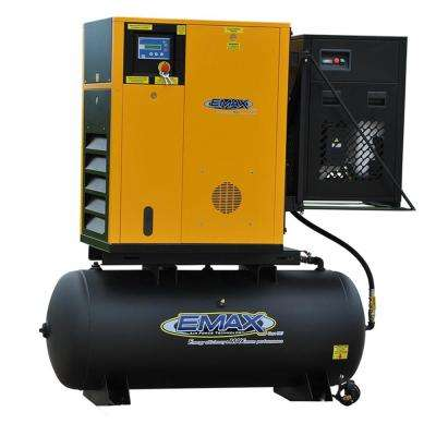 Premium Series 120 Gal. 15 HP 3-Phase Electric Variable Speed Rotary Screw Air Compressor with Refrigerated Dryer