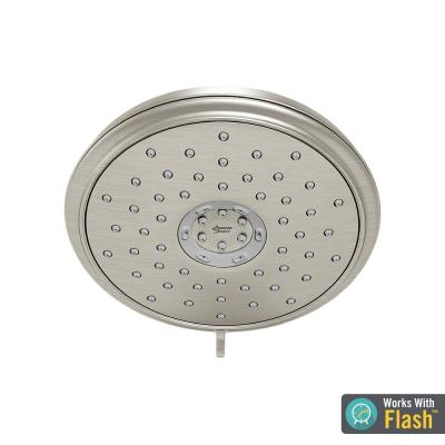 Spectra+ 4-Spray 7.3 in. Single Ceiling Mount Fixed Adjustable Shower Head in Brushed Nickel