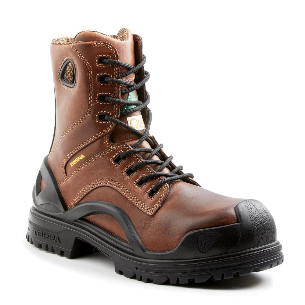 Bridge Men's Size 14 Brown Leather Work Boot