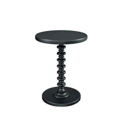 Black Round Spindle Table