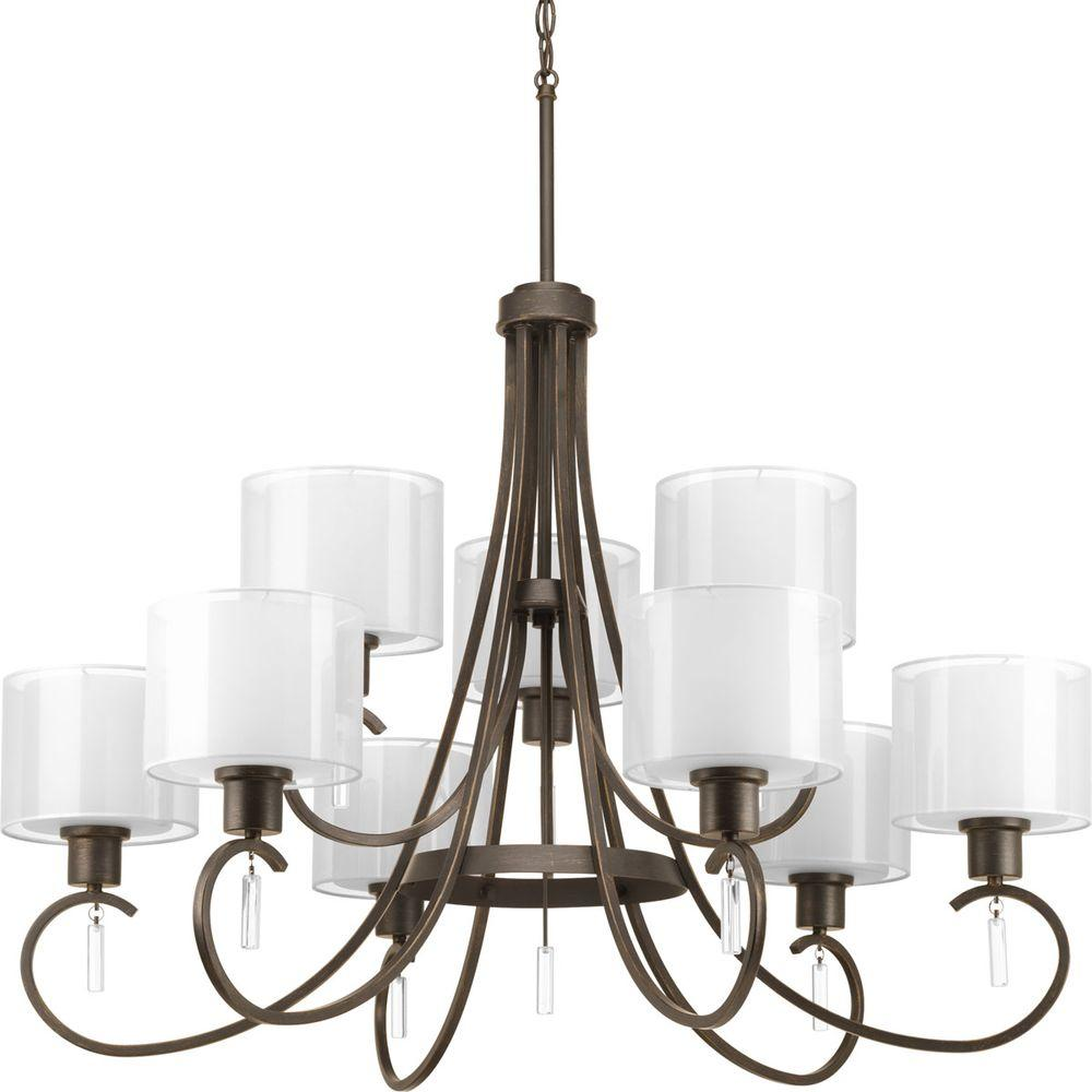 Progress Lighting Invite Collection 9-Light Antique Bronze Chandelier