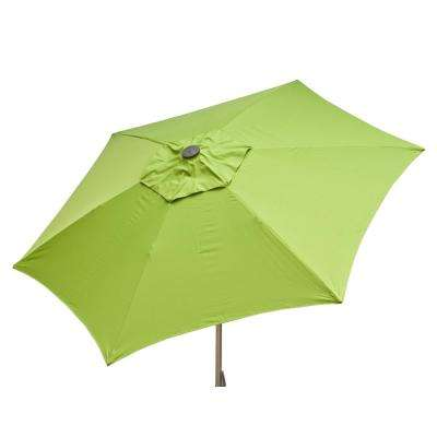 8.5 ft. Aluminum Manual Push-Up Tilt Patio Umbrella in Lime Polyester