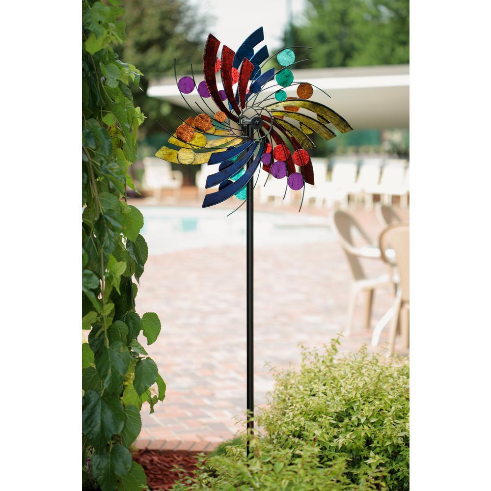 Model 622158 Polka Dot Plume Wind Spinner