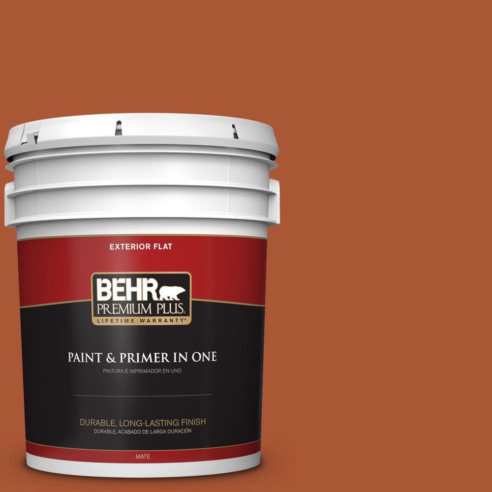 BEHR Premium Plus 5-gal. #S-H-220 Summer Heat Flat Exterior Paint