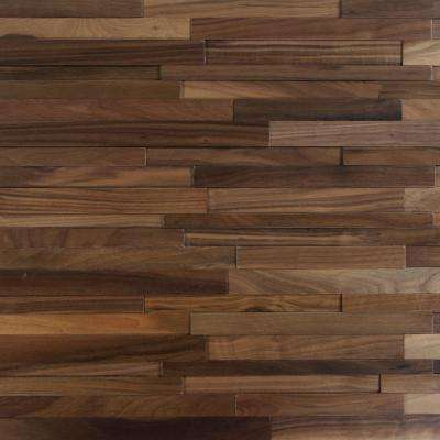 Take Home Sample - Deco Strips Buckeye Engineered Hardwood Wall Strips - 5 in. x 7 in.