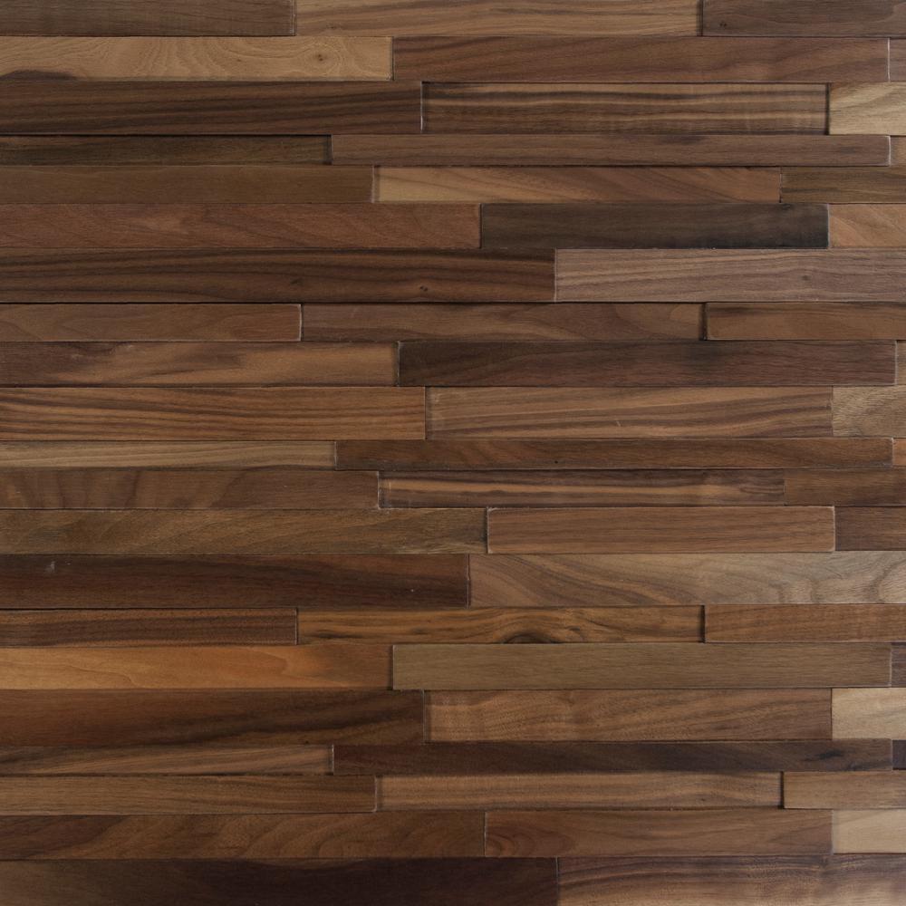 Take Home Sample - Deco Strips Buckeye Engineered Hardwood Wall Strips - 5 in. x 7 in.