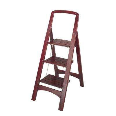 Rockford 3-Step Mahogany Wood Step Stool ...  sc 1 st  The Home Depot & Type 2 - 225 lbs. - ANSI Certified - Step Stools - Ladders - The ... islam-shia.org
